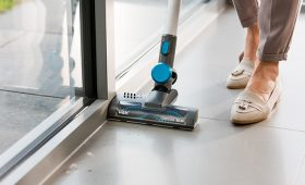Vax Cordless SlimVac vacuuming hard floors in the home