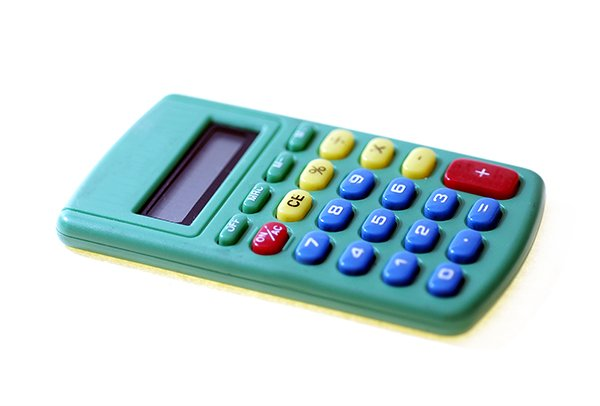 small colorful calculator